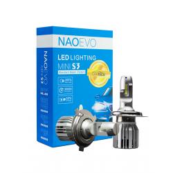 Φώτα Led Naoevo Mini S3 H4 60W 6500K 7200lm 2 Τεμ