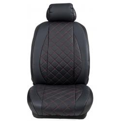 Ημικαλύμματα Εμπρόσθιων Καθισμάτων Αυτοκινήτου Δερματίνη Καπιτονέ HMD-F1 2τμχ