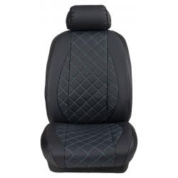 Ημικαλύμματα Εμπρόσθιων Καθισμάτων Αυτοκινήτου Δερματίνη Καπιτονέ HMD-F2 2τμχ