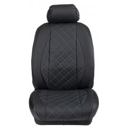 Ημικαλύμματα Εμπρόσθιων Καθισμάτων Αυτοκινήτου Δερματίνη Καπιτονέ HMD-F3 2τμχ