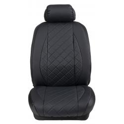 Ημικαλύμματα Εμπρόσθιων Καθισμάτων Αυτοκινήτου Δερματίνη Καπιτονέ HMD-F44 2τμχ