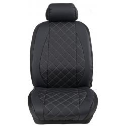 Ημικαλύμματα Εμπρόσθιων Καθισμάτων Αυτοκινήτου Δερματίνη Καπιτονέ HMD-F4 2τμχ