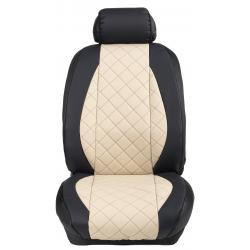 Ημικαλύμματα Εμπρόσθιων Καθισμάτων Αυτοκινήτου Δερματίνη Καπιτονέ HMD-F64 2τμχ